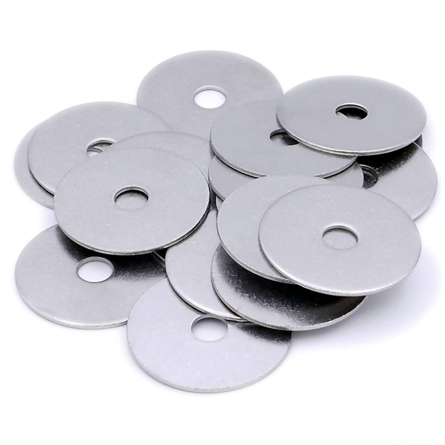 - Stainless Steel 6mm x 45mm Large OD M6 Pack of 10 Flat Repair Washer A2