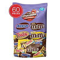 Deals on Snickers M&MS & Twix Fun Size Candy Variety Mix 60 Pieces