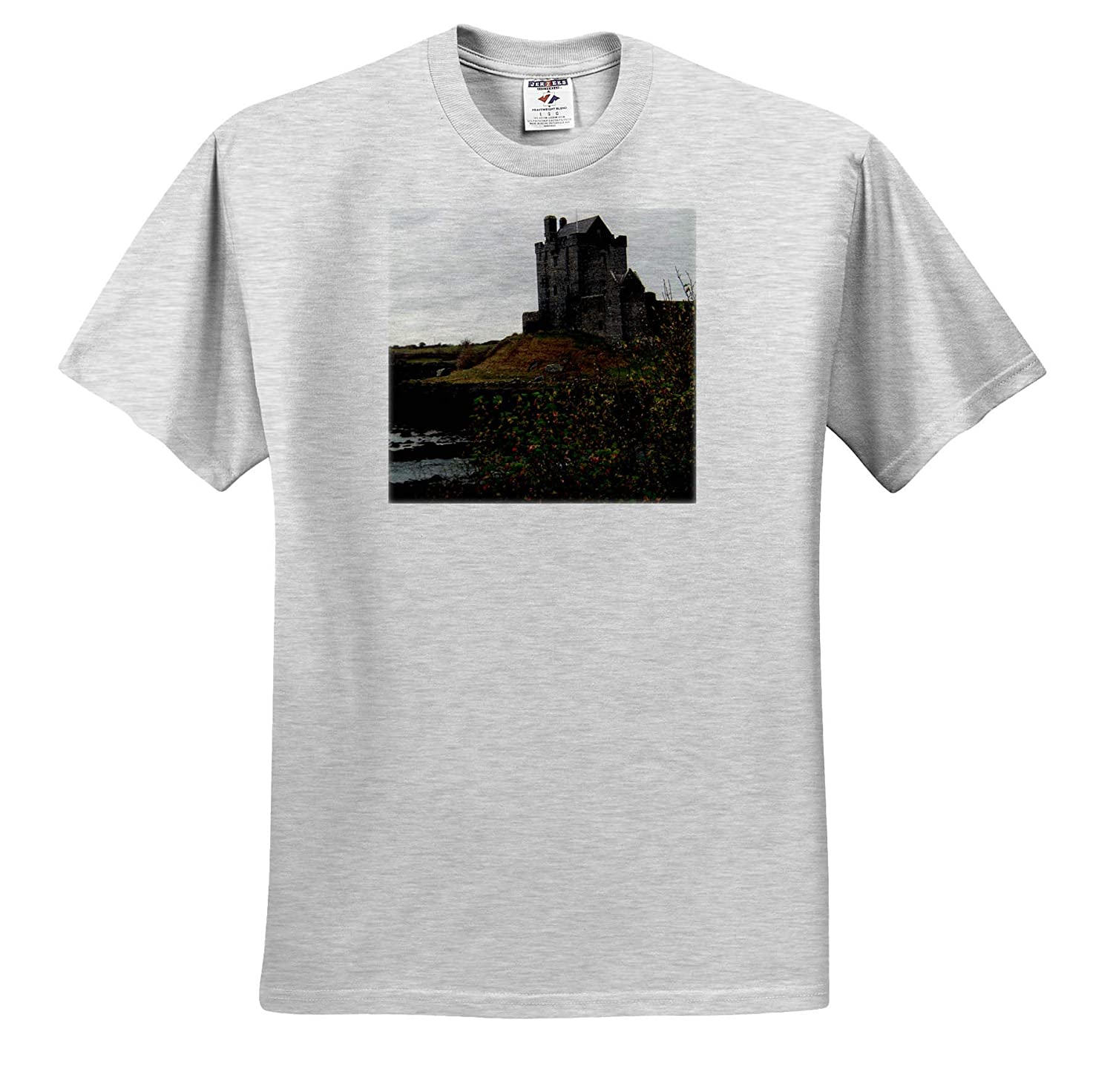 Castle Scotland A Castle Off The Road in Scotland on a Hill T-Shirts 3dRose Jos Fauxtographee