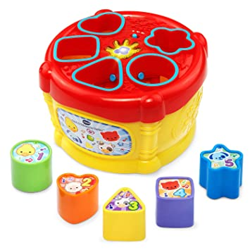Amazon Com Vtech Sort And Discover Drum Toys Games