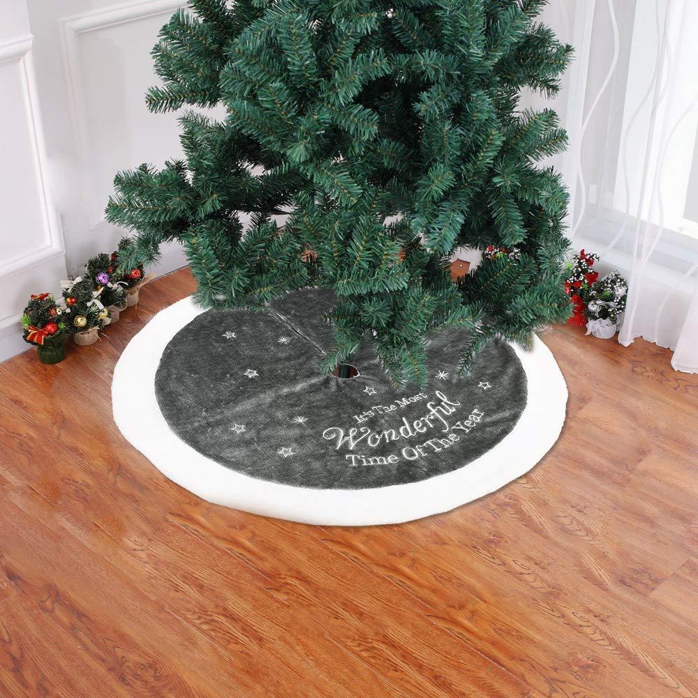 Merry Christmas Tree Skirt Felt Tree Skirt for Xmas Decor Festive Holiday Decoration Xmas Holiday Tree Ornaments Decoration