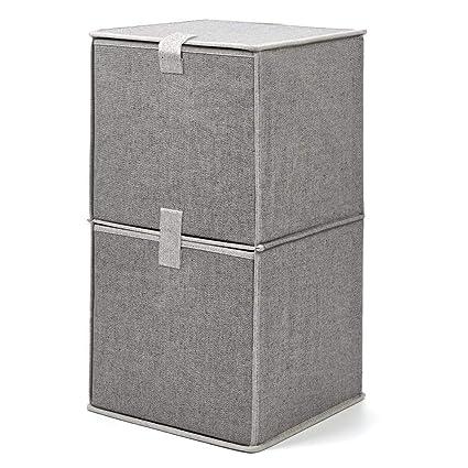 EZOWare Caja de Almacenaje de Tela con 2 Niveles, Estante, Estantería,Organizador de