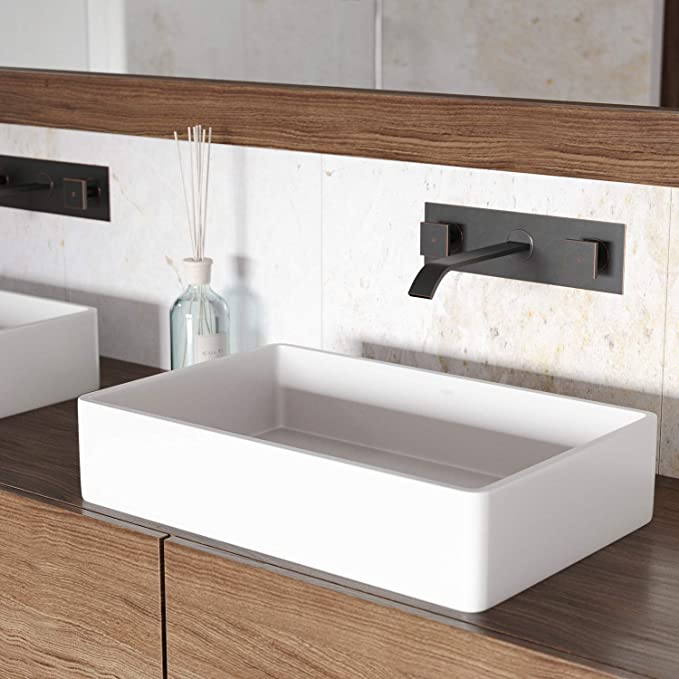 Vigo Vg04010 Magnolia Matte Stone Vessel Bathroom Sink by Vigo