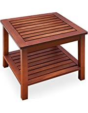 Wood folding side table, garden table, acacia wood coffee table, bistro table