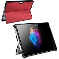 Maiddos Microsoft Surface Pro 4/Pro 5 Case with Pen Holder and Type Cover Strap (Red)