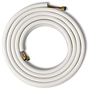 """Senville 25' Insulated Copper Pipes for Air Conditioning - 3/8"""" & 1/4"""""""