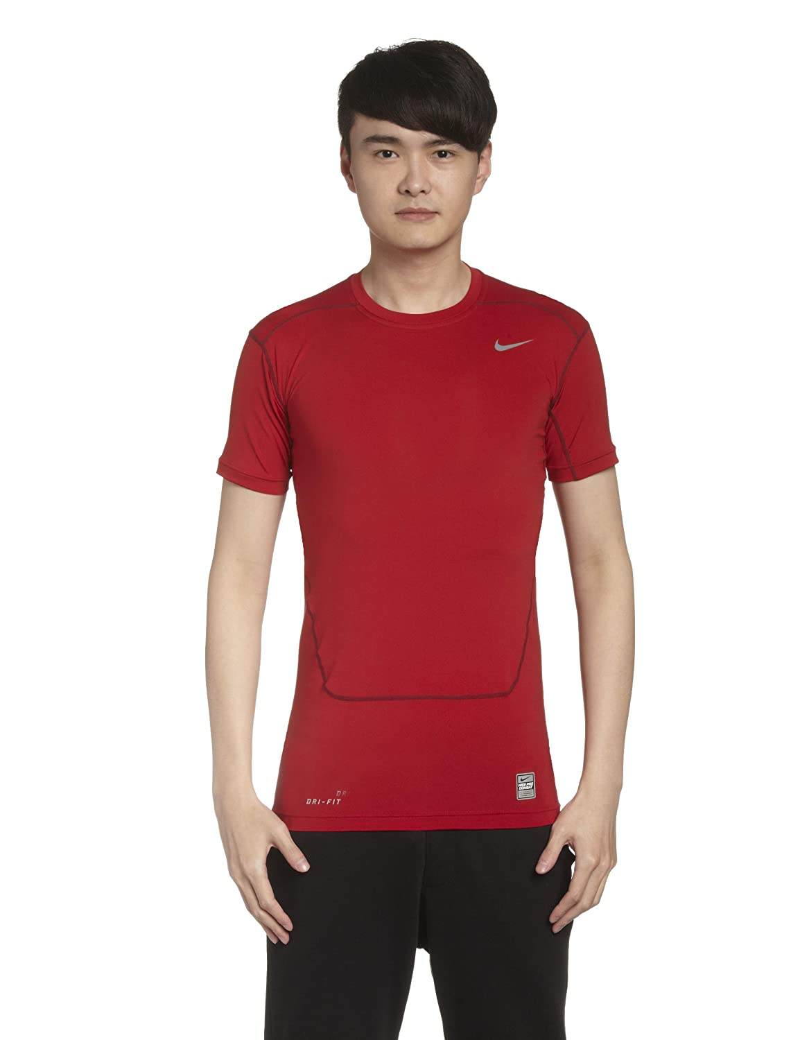 Nike Core Compression 2.0 Short Sleeve Top (Red) B008FPYX7IRed XL 46-48\