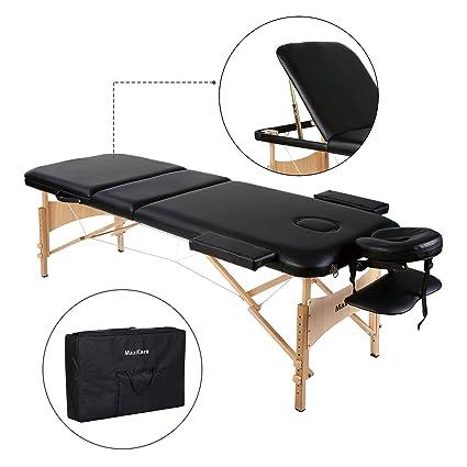 Lettino Da Massaggio Deluxe A 3 Sezioni Tavolo Da Massaggio