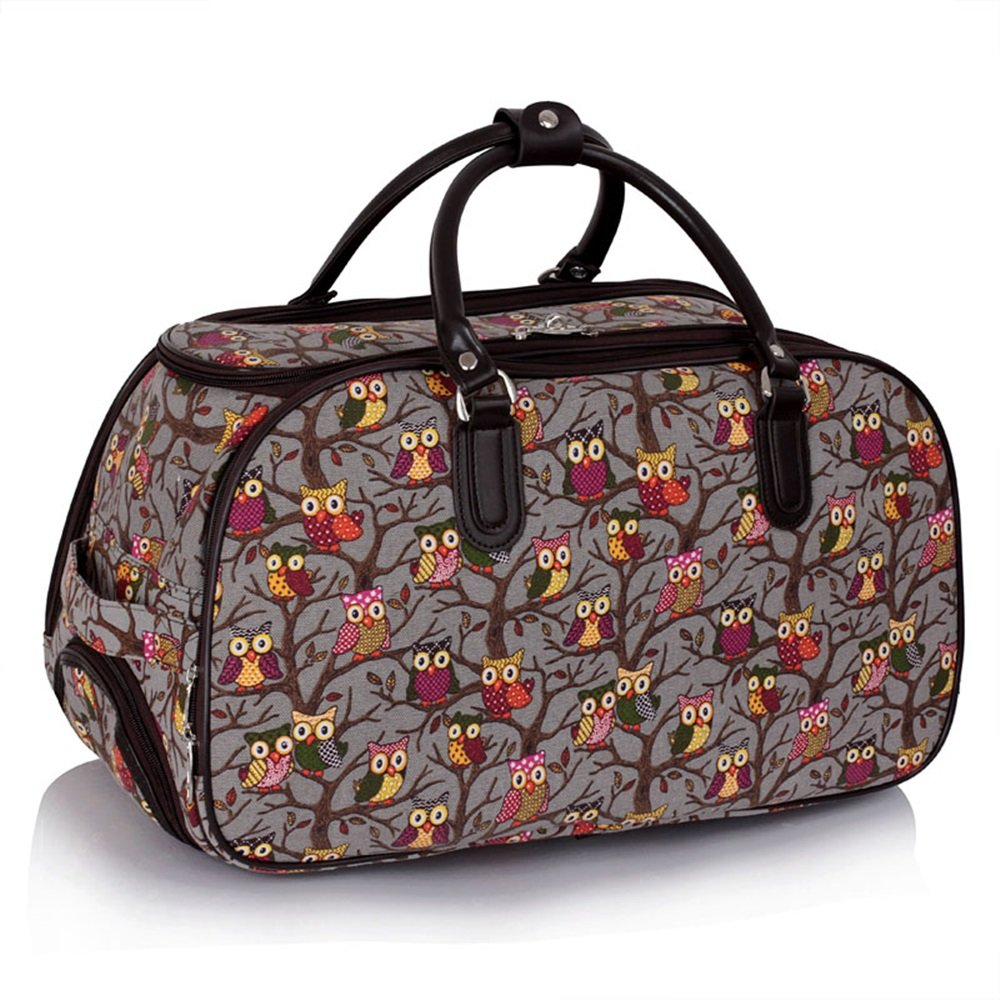 sac de femme Owl / Papillon Print Avec Roues bagage femme Fin de semaine sac main Wheeled chariot sac a dos CWS00308 CWS00308C