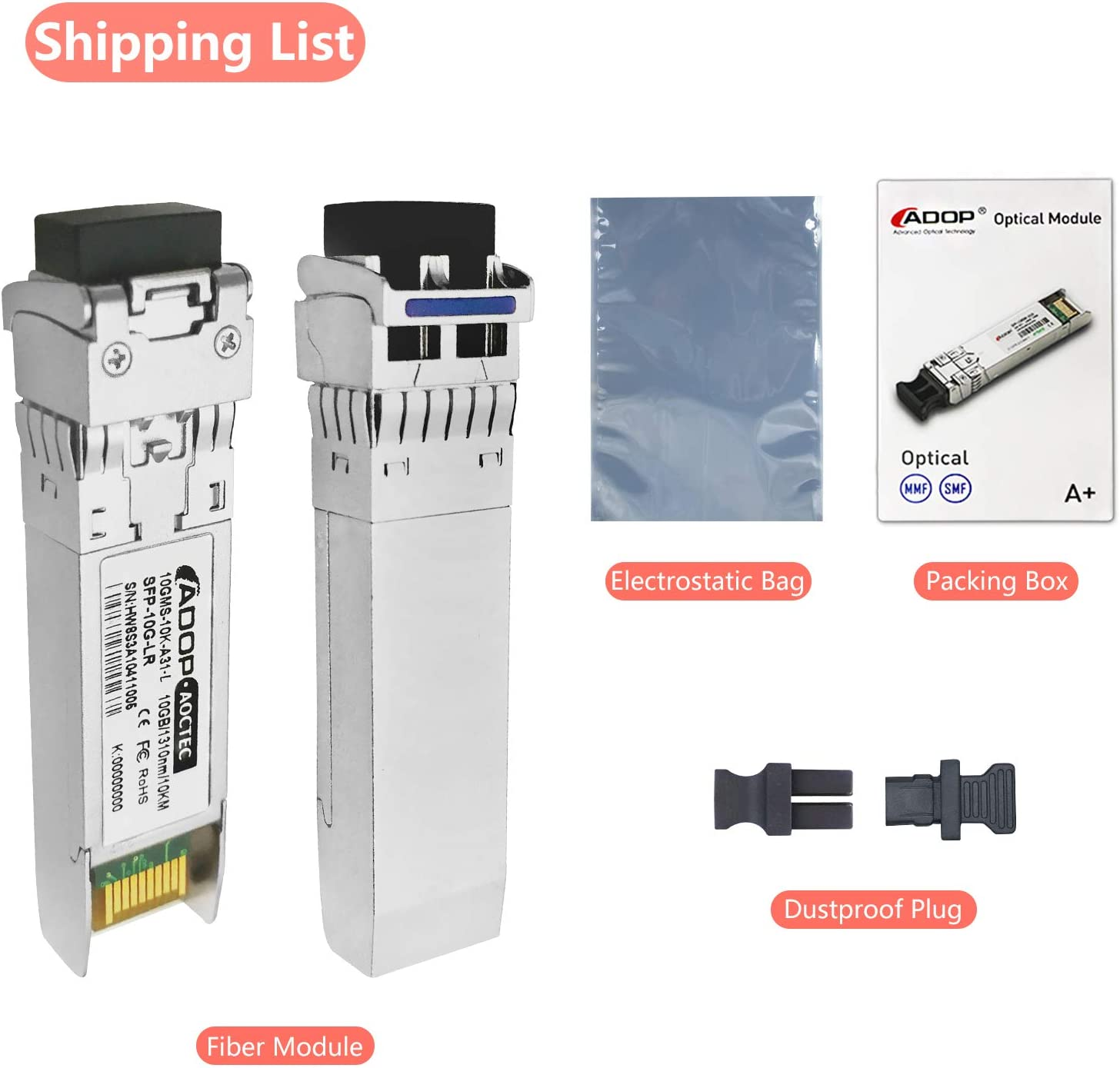ADOP for H3C Compatible Transceiver 1310nm 10km 10GBase-LR,10G SFP