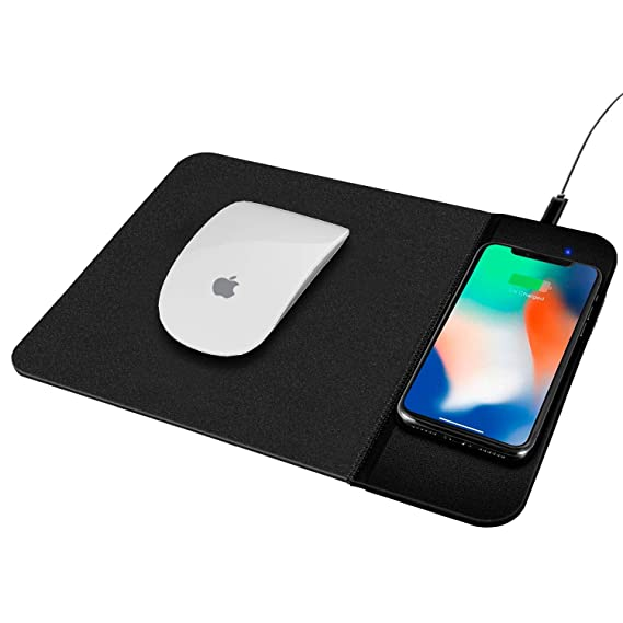 factory authentic 81b17 a590e Venoro Qi Wireless Charging Mouse Pad - Wireless Charger Mouse Mat for  iPhone XR/XS/XS Max/8/8 Plus, Samsung S10e/S10/S10+/Note  8/S9/S9+/S8/S8+/S7/S6 ...