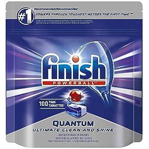 Finish Quantum Powerballs Dishwashing Detergent Tabs 3.52 Lb, 100 Tabs