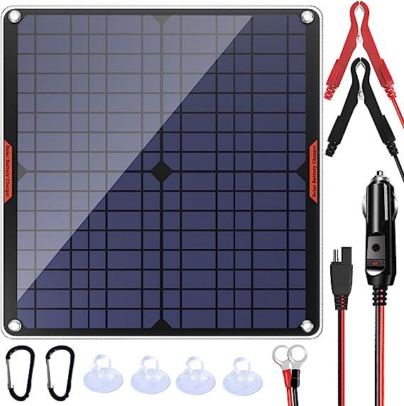 Powiser 20W 12V Solar Panel Car Battery Charger