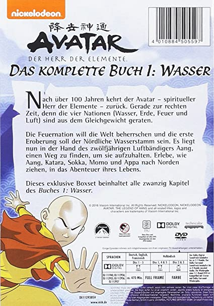 Avatar - Der Herr der Elemente, Das komplette Buch 1: Wasser 5 DVDs ...