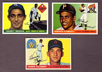 1955 Topps Rookie Reprint 3 Card Lot Roberto Clemente