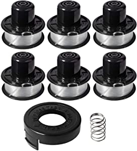 "Eyoloty Weed Eater Spools Compatible with Black and Decker RS-136 ST4500 ST1000 ST4000 GE600 CST800 ST6800 String Trimmer Replacement Spool Line 20ft 0.065"" Edger Refills Parts Auto-Feed"