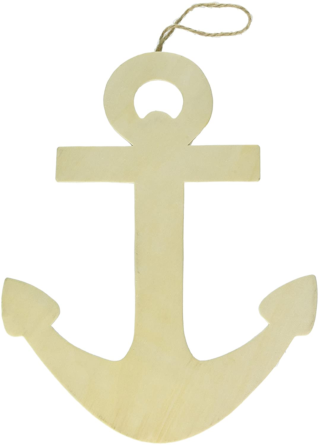 Amazon.com: Darice Unfinished Wooden Anchor Wall Decor with Hanger ...