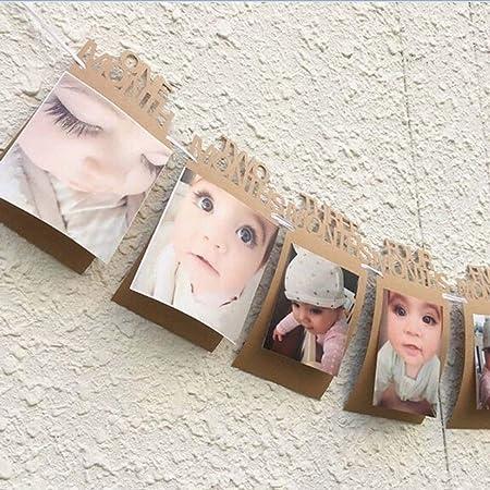 Lizhuofush - Pancarta de 1 a 12 Meses para Fotos de bebés ...