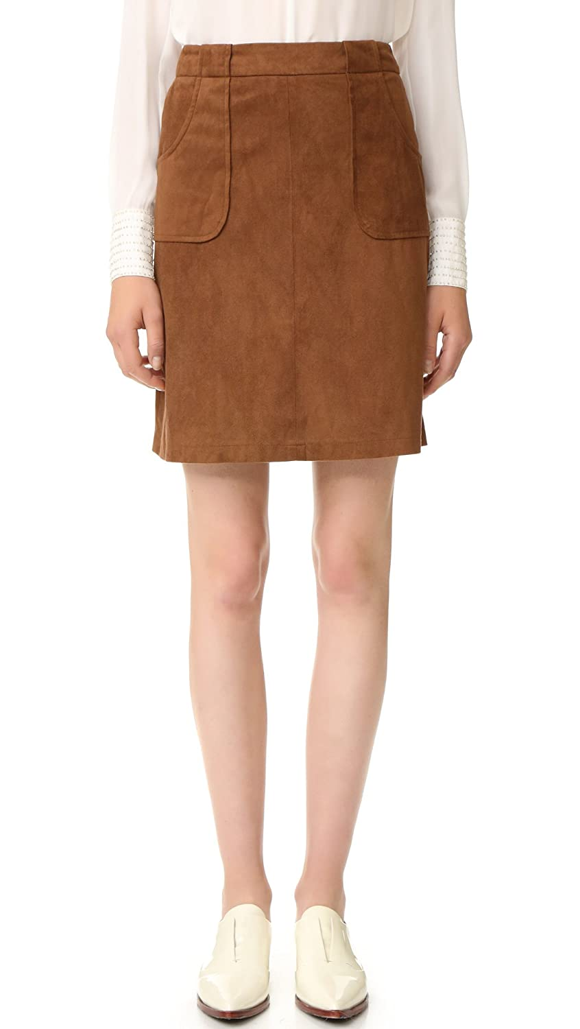 BB Dakota Women's Belfort Faux Suede Skirt
