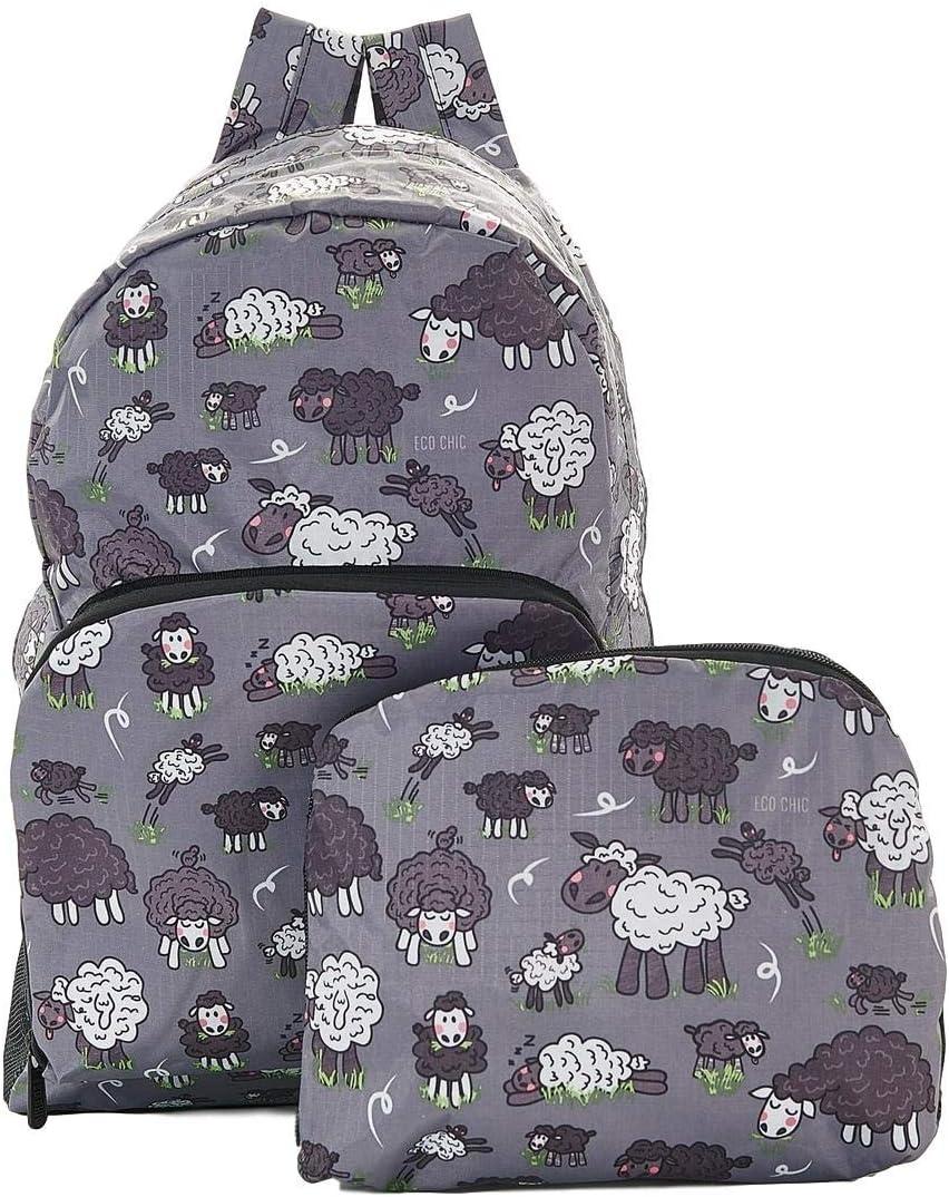 Green Sheep Print Expandable Backpack//Rucksack Holds 15kg Max 6mth Guarantee