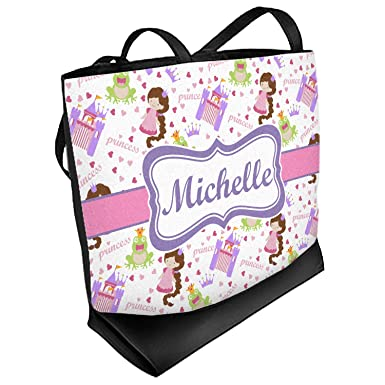 Princess Carriage Zippered Everyday Tote Personalized Front