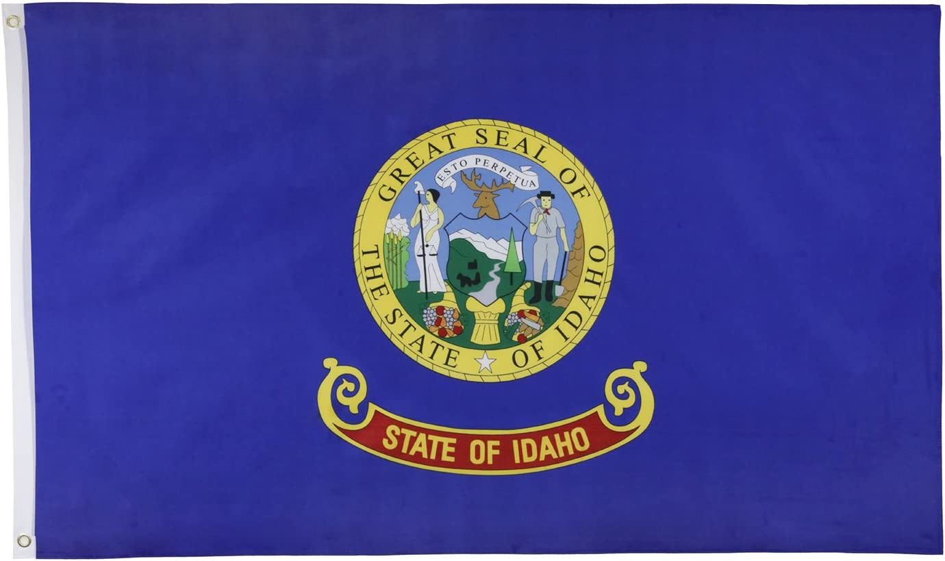 Idaho Official State Usa American Flag 3x5 Polyester