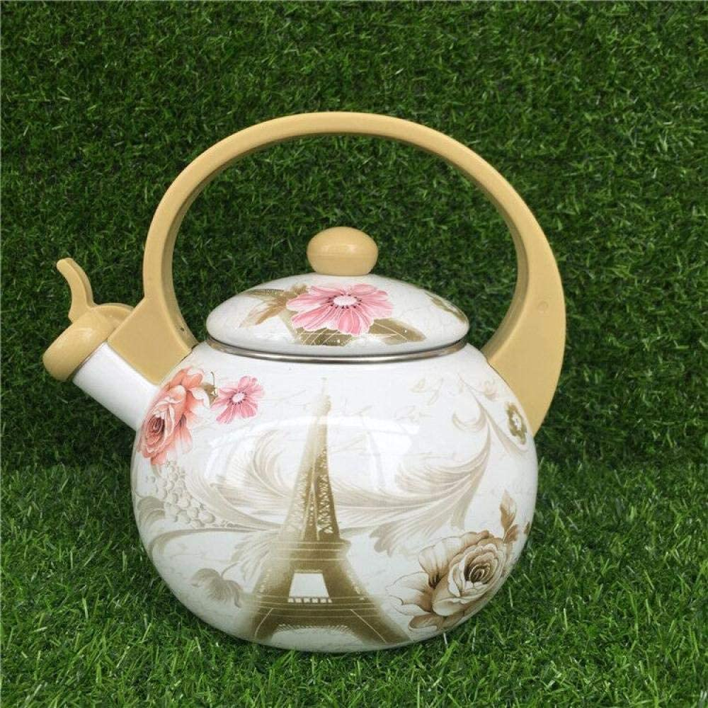 Enamel Teapot Thick Enamel Whistling Kettle, Induction