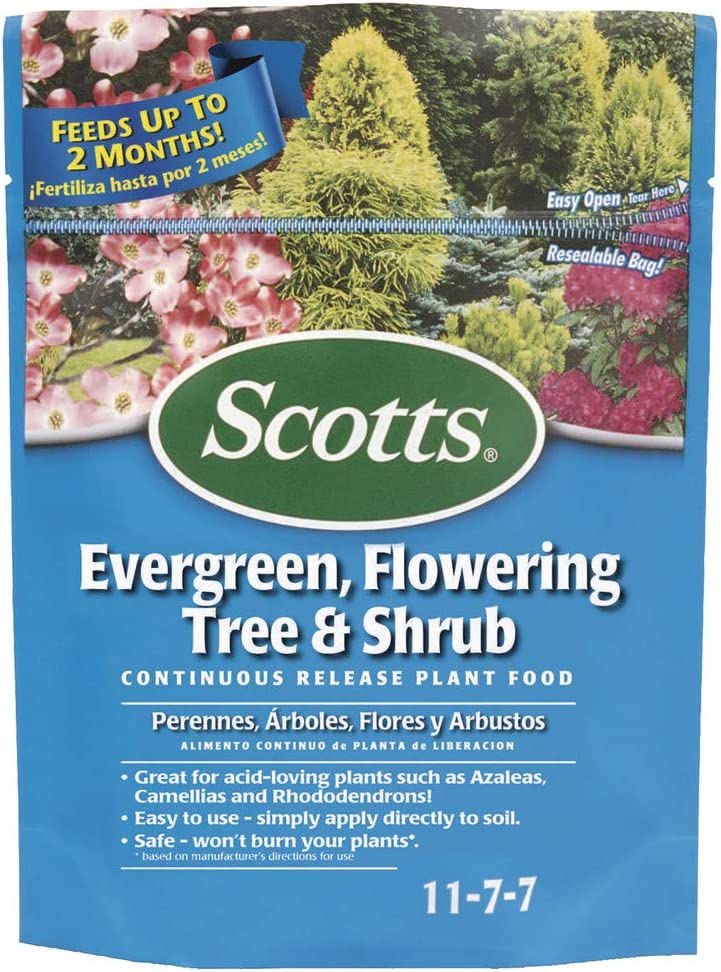 Scotts 200910 Evergreen Flowering Tree & Shrub Continuous Release Plant Food, 3-Pound