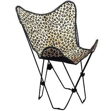 Auténtica piel de guepardo Hairon cuero mariposa silla ...