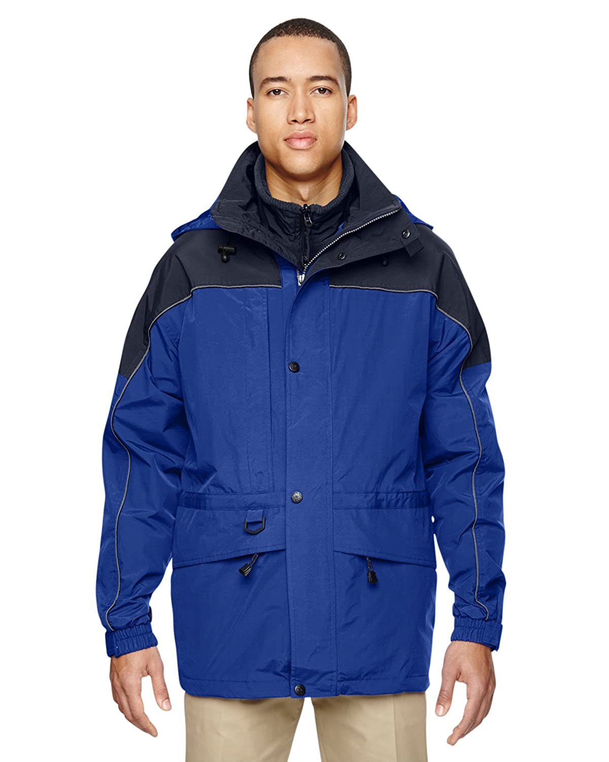 North End Mens 3-In-1 Two-Tone Parka Water Resistant Jacket Ash City - North End M10672