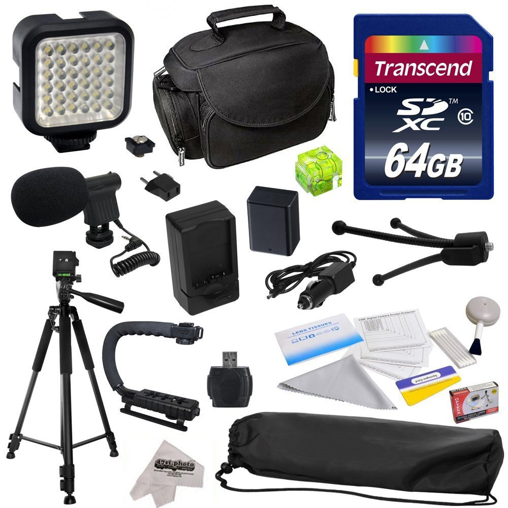 Advanced Accessory Kit for Canon PowerShot G1X G16 G15 SX50HS SX50 HS Digital Camera Includes 64GB High Speed Memory Card + Card Reader + Opteka NB-10L 1800mAh Ultra High Capacity Li-ion Battery Pack + Battery Charger + Deluxe Padded Carrying Case + Profe