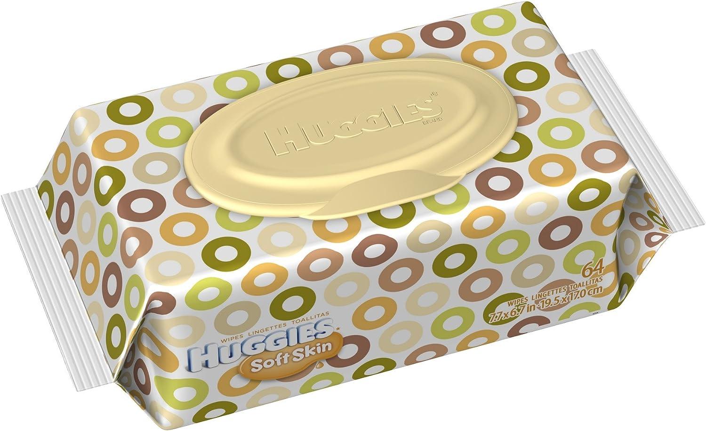 Huggies Soft Skin Wipes/4 x 64 per pack