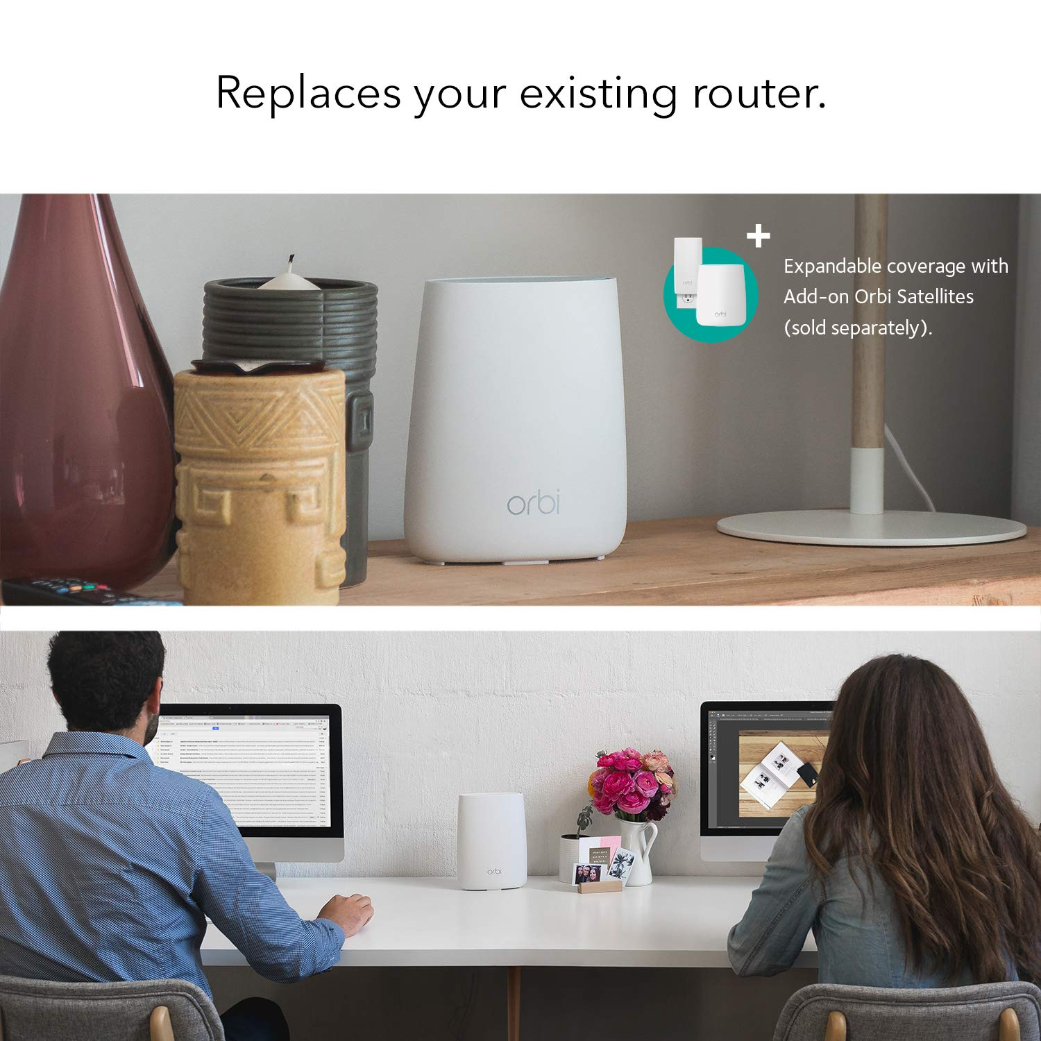 NETGEAR Orbi Whole Home Mesh-Ready WiFi Router - for speeds up to 2.2 Gbps Over 2,000 sq. feet, AC2200 (RBR20) by NETGEAR (Image #1)
