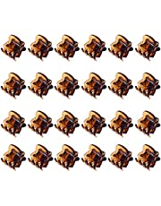 12PCS Mini Small Plastic Hair Clips Claws Pins Clamps Hairpin for Girls Kids Women Coffee Color