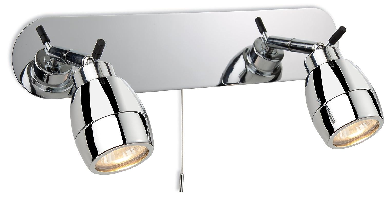 Firstlight Marine 9502CH GU10 IP44 Luminaire pour salle de bain Chrome 2 x 240 V 35 W Firstlight Products