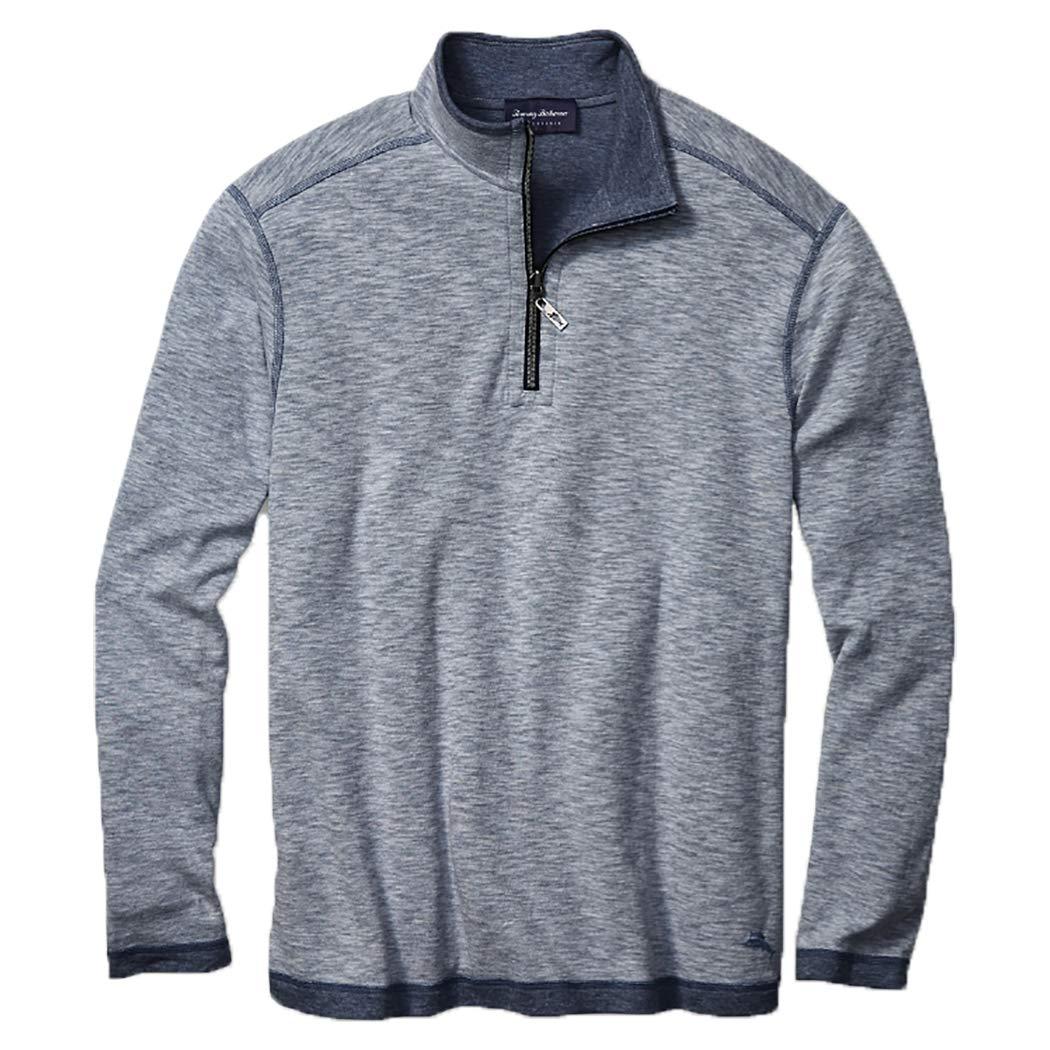 Tommy Bahama Sea Glass Reversible Half-Zip Sweatshirt (Maritime, XL)