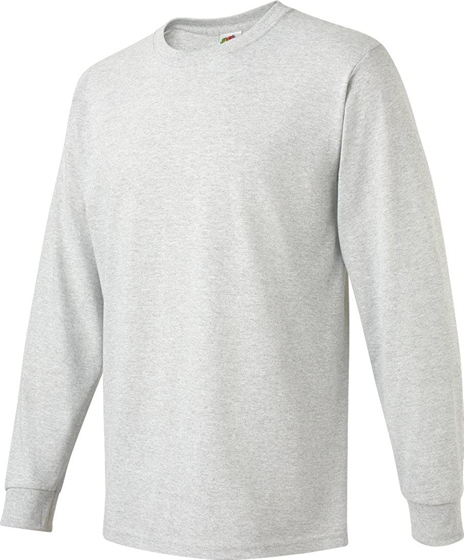 3f354acb4 Fruit of the Loom Adult 5 Oz HD Cotton Long-Sleeve T-Shirt - White - S -  (Style # 4930 - Original Label) | Amazon.com