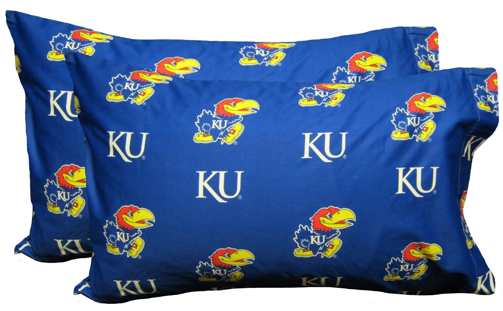 College Covers Kansas Jayhawks Pillowcase Pair - Solid (Includes 2 Standard Pillowcases)