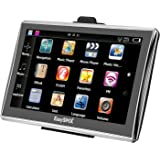 EasySMX 7 Inch 8GB TFT LCD Touch Screen SAT NAV Car GPS Navigation with UK and Full EU Maps, Free Lifetime Map Updates,Preloaded Maps Music/Movie Player Multi-language Compatible with Window XP