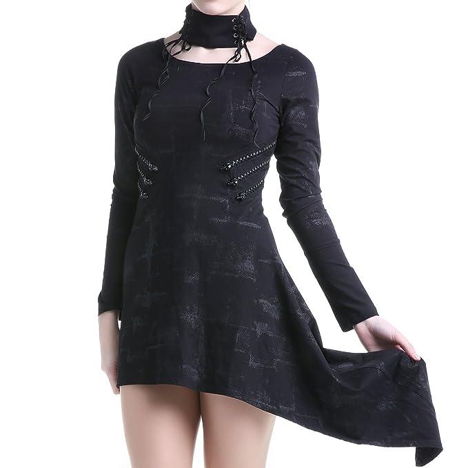 Camiseta vestido mujer negra