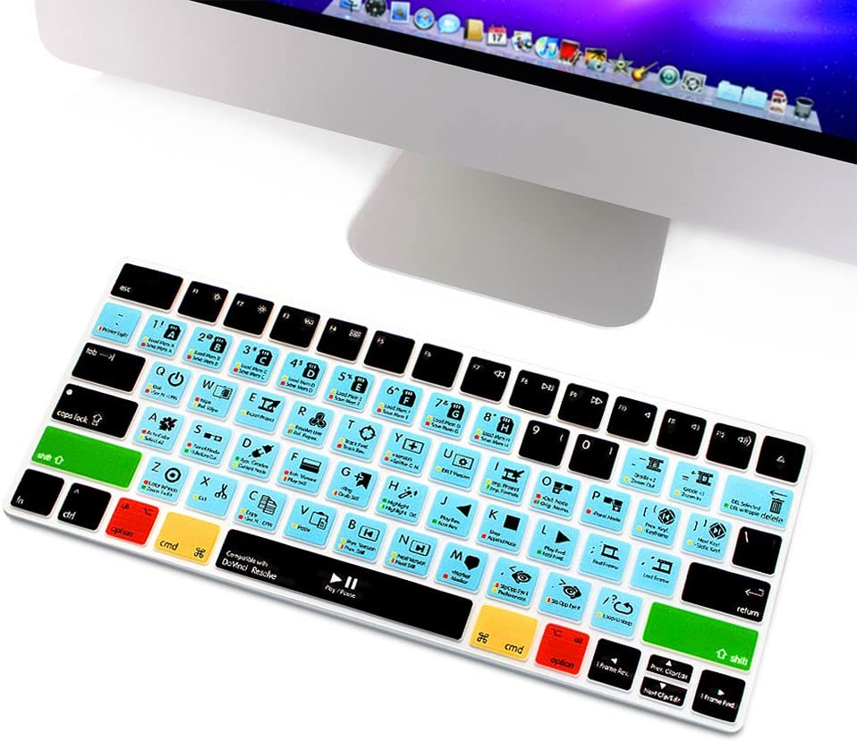 HRH Illustrator AI Functional Shortcut Hotkey Keyboard Cover Silicone Skin for Apple Magic Wireless Bluetooth Keyboard MLA22LL//A A1644,2015 Released with US Layout