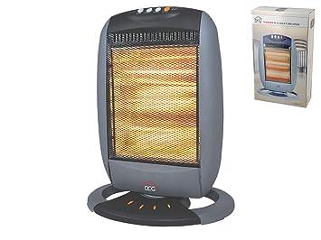 DCG Eltronic SA9223 - Calefactor (Calentador halógeno, Piso, Negro, Gris, Botones, 1200 W, 400 W): Amazon.es: Hogar