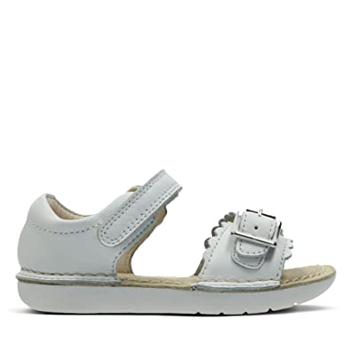 92e78964e6c84 Clarks Ivy Flora Leather Sandals in White Standard Fit Size 4½ ...