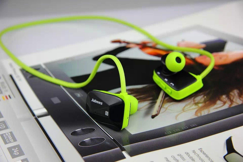 Bluetooth deporte auriculares original de la marca Jabees BSport BT4.0 auricular con micrófono inalámbrico impermeable natación auriculares auriculares ...