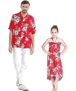 39370efa8da0 Matching Father Daughter Hawaiian Luau Cruise Outfit Shirt Dress Various  Patterns