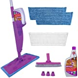 Rejuvenate Click N Clean Multi-Surface Spray Mop System Complete Bundle Includes Free Click-On Pro Grade Grout Brush 1 x 32oz