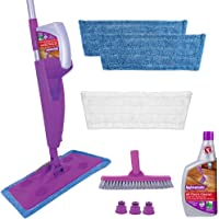 Rejuvenate Click N Clean MultiSurface Spray Mop System Complete Bundle Includes Free ClickOn Pro Grade Grout Brush x…