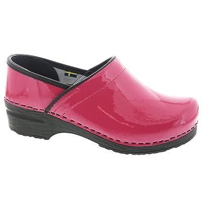 Amazon.com | Bjork PRO ELSA Fuchsia Patent Leather Clogs | Mules & Clogs