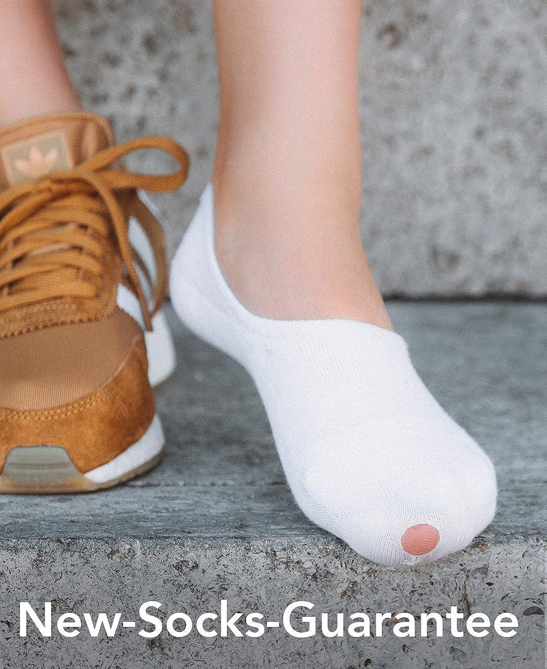 Blanco Snocks Calcetines pinkies unisex para Sneaker 6 pares Tobilleros para Sneaker tama/ño: 35-50 color: Negro Rosa Gris Azul pinkies de algod/ón Calcetines invisibles