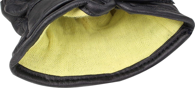 normani Einsatzhandschuh Super Defender aus Leder mit Quarzsandf/üllung und schnitthemmenden Kevlar